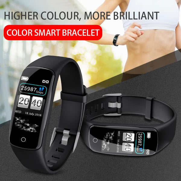 New IP67 Waterproof Heart Rate Fitness Tracker Smart Bracelet Watch For IOS Android