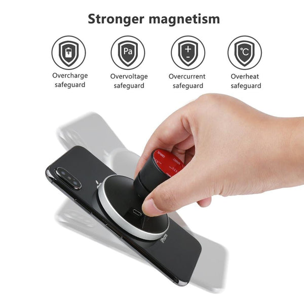 New 360 Degree Rotation Qi Wireless Magnetic Car Holder Charger For Compatible iPhones & Samsung Smart Phones