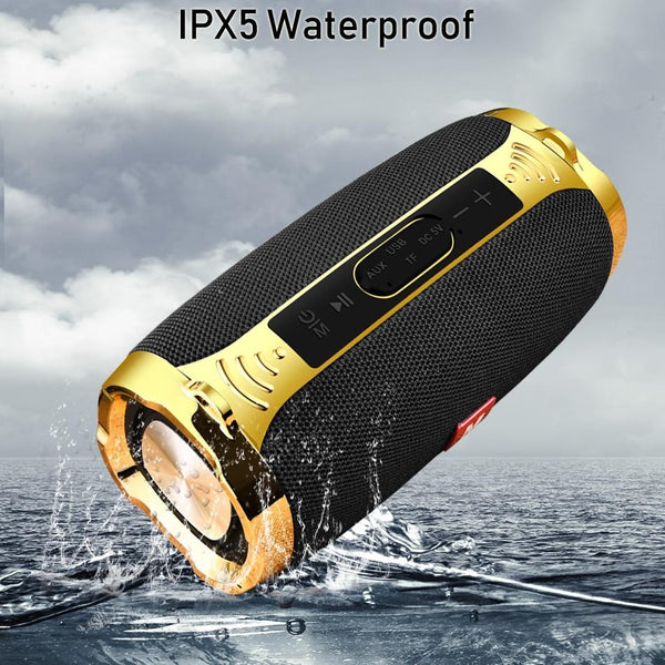 New Bluetooth Waterproof Portable Outdoor Wireless Mini Column Box HIFI Speaker For Android iPhone Windows