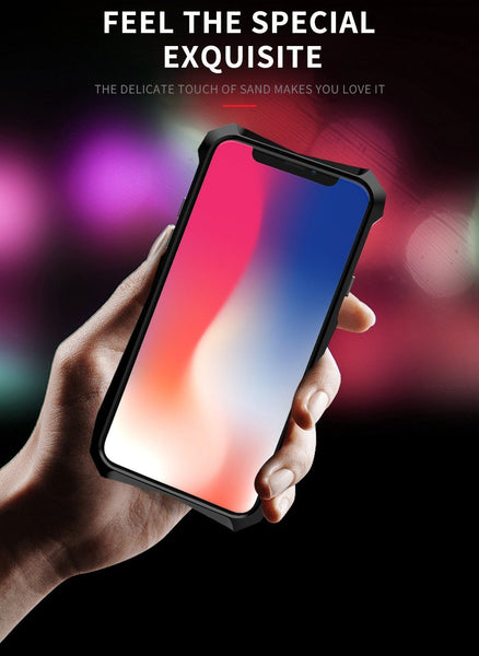 New Super Slim Hard Cover Metallic Frame Acrylic Back Cover Bumper Case With Finger Ring Stand For iPhone X XR XS MAX