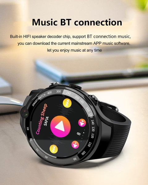 New 4G WIFI AMOLED Clock Screen Fitness Tracker Pedometer Sport Digital GPS Smartwatch For iPhone Android