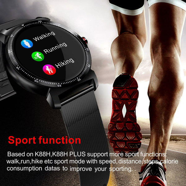 New HD Display Heart Rate Monitor Pedometer Fitness Tracker Smartwatch For Android IPhone