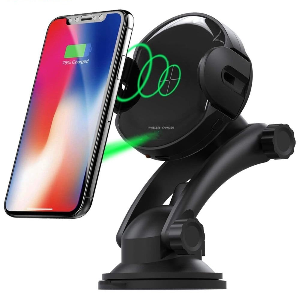 New Automatic Fast Qi Wireless Car Mount Holder For iPhones Samsung Smart Phones
