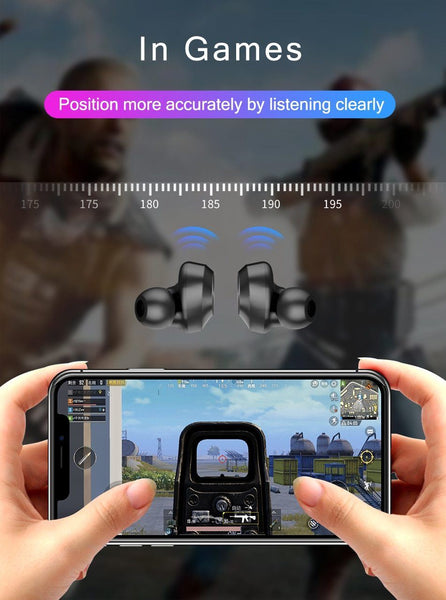 New True Wireless Bluetooth Touch Control HIFI Earbuds Earphones Headset With Microphone + Charge Box