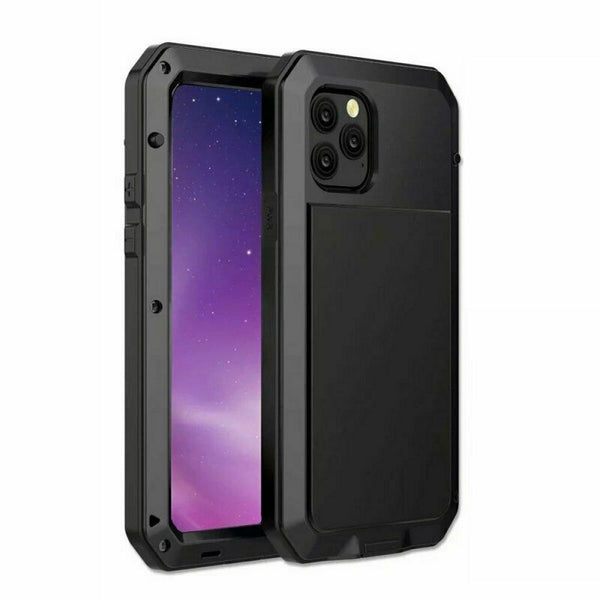 New Luxury Full Wrap Tough Armor Metal Aluminum Cover for iPhone 8 X XS XR 11 Pro Max Series