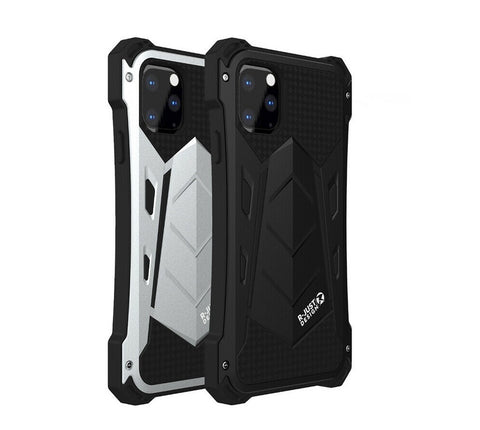 New Luxury Protective Hard Armor Heavy Duty Metal Aluminum Shell Phone Case for iPhone 11 Pro Max XR XS / Samsung Galaxy S10 Note 10 Plus