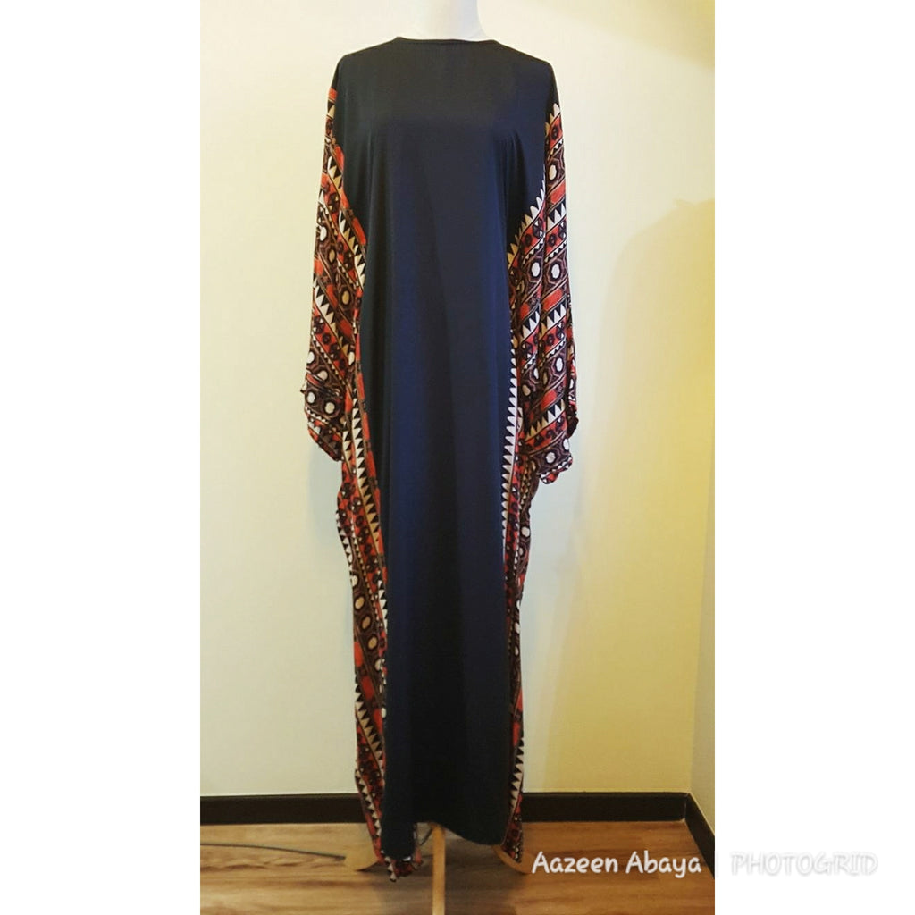 Tribal Orange & Black Kaftan