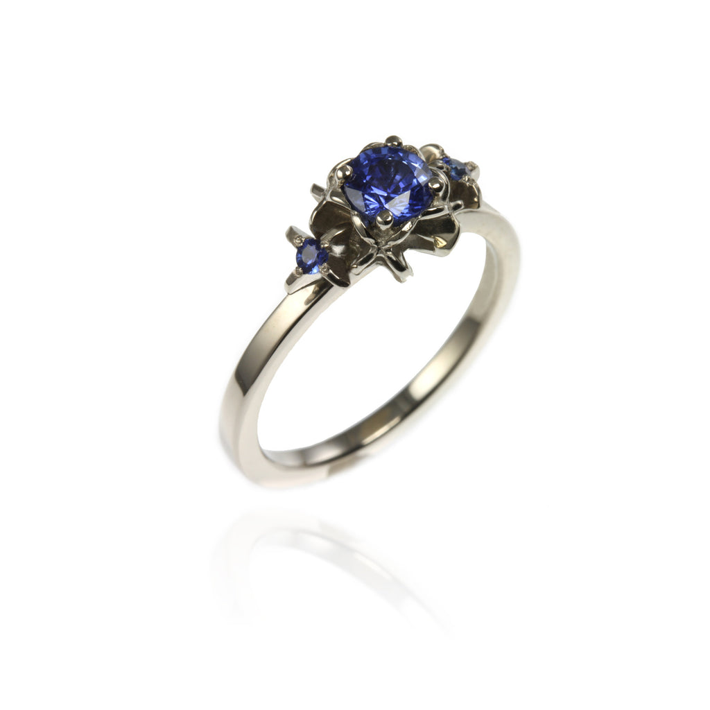 White Gold & Sapphires Ring