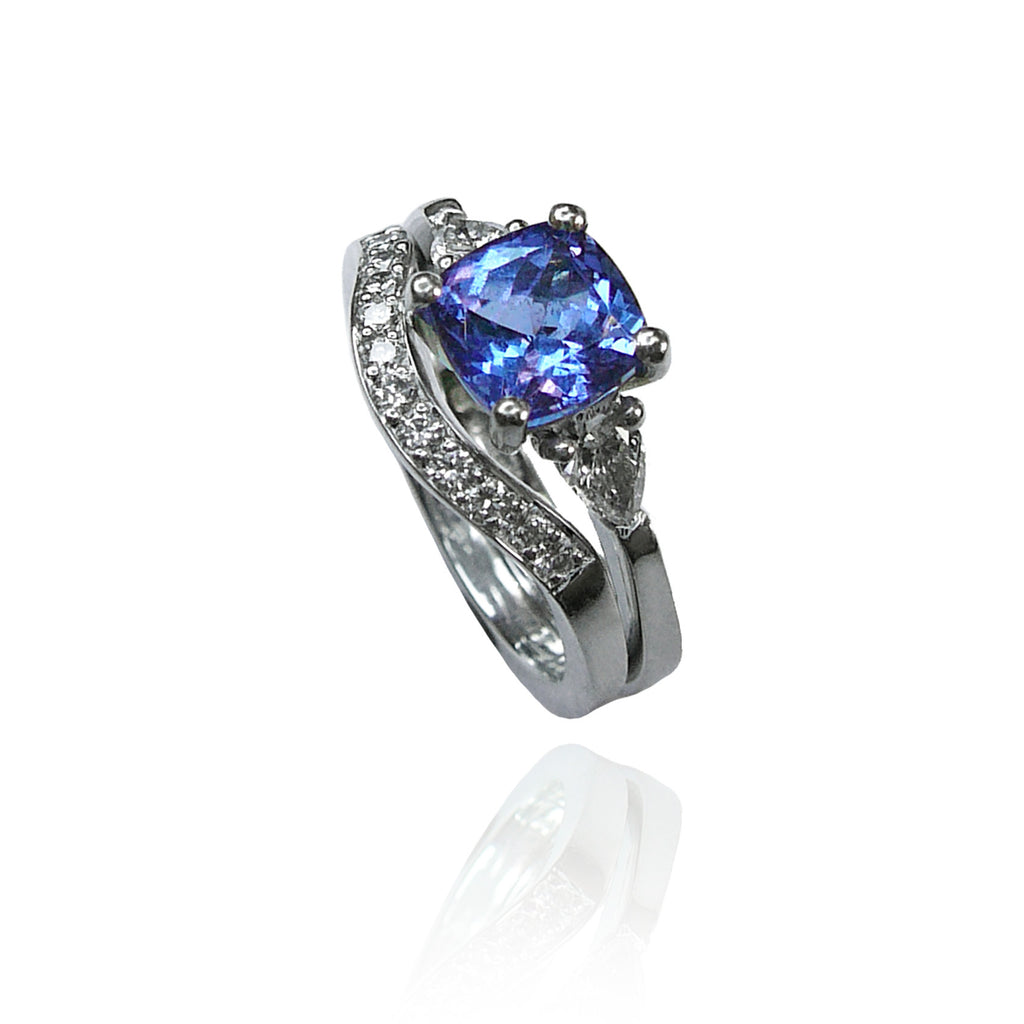 Platinum, Tanzanite and Diamonds Set