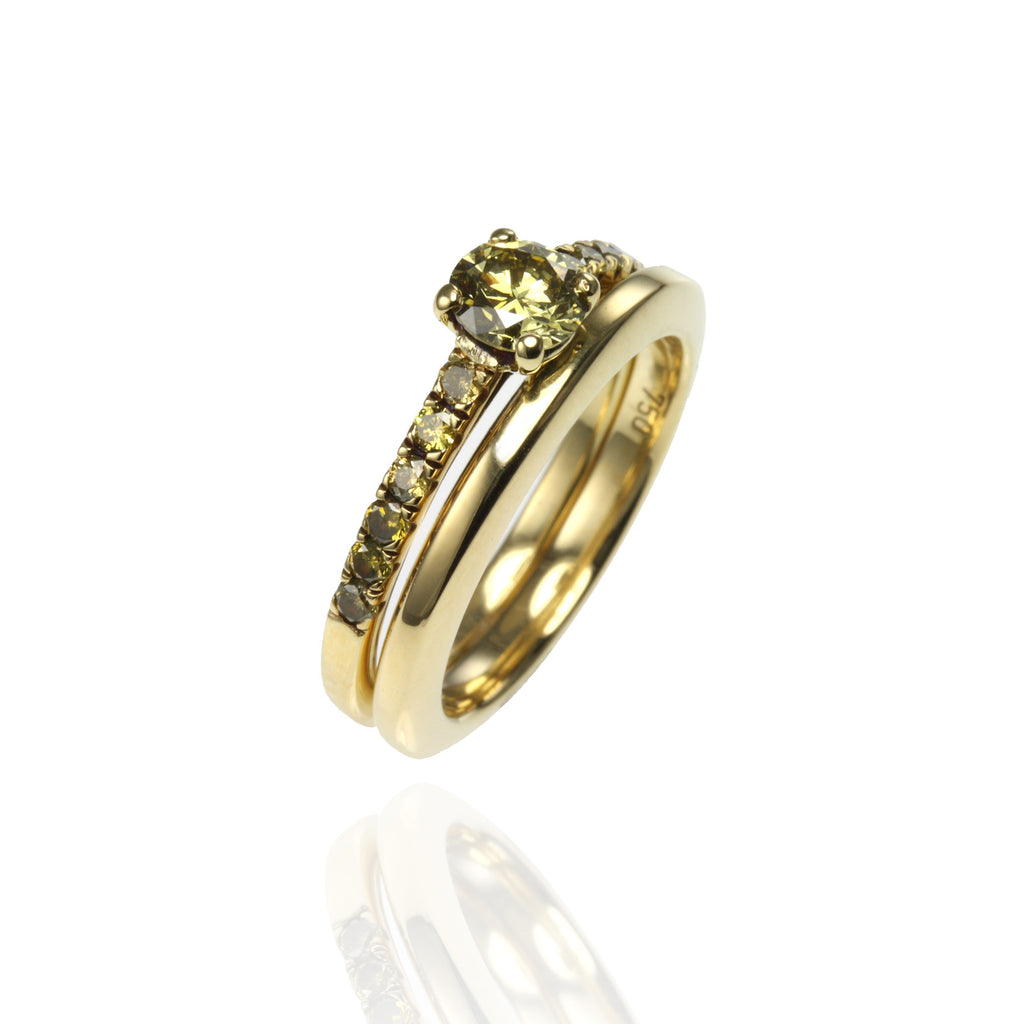 18ct Yellow Gold and Yellow Diamonds Set