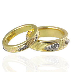 Wedding Bands with Shells