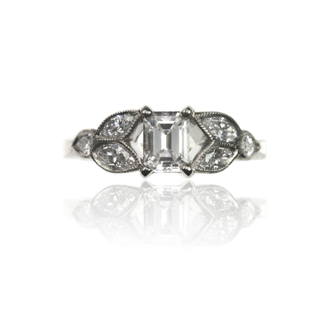 White and Cognac Diamond Ring