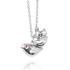 Mother and Baby Bird Necklace