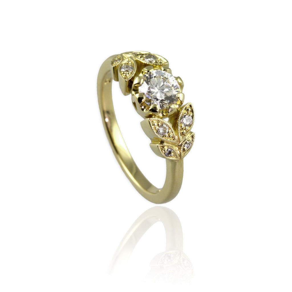 Yellow Gold Belle Epoque Style Ring