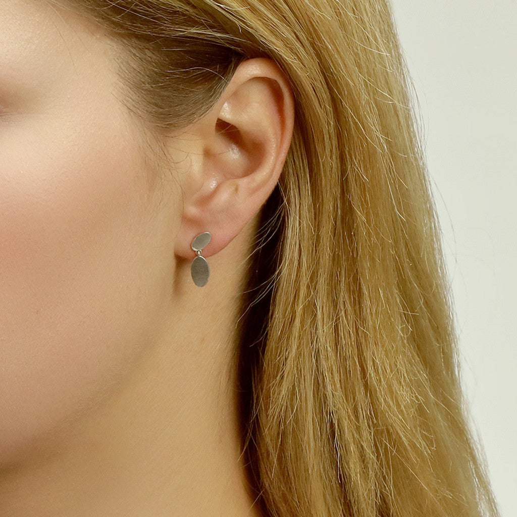 Double Ellipse Ear Studs