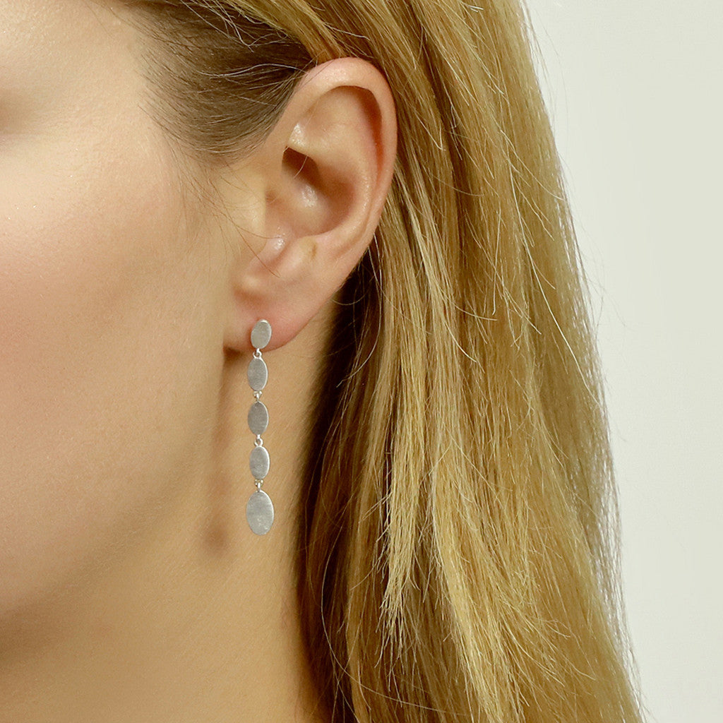 Long Ellipse Ear Studs