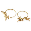 Greyhound Hoop Earrings