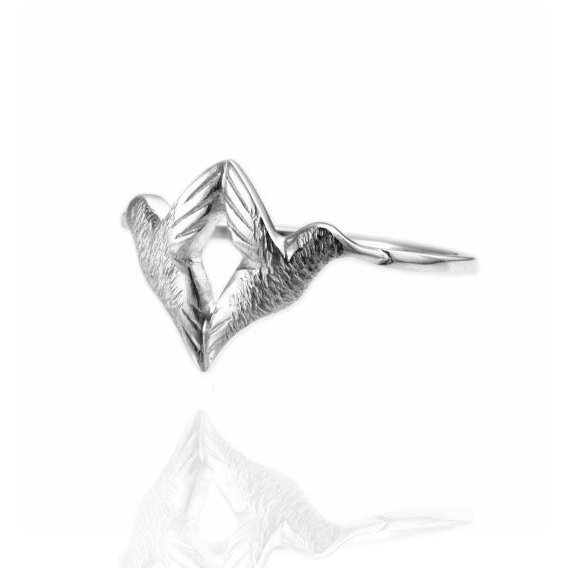 Twin Hummingbird Ring