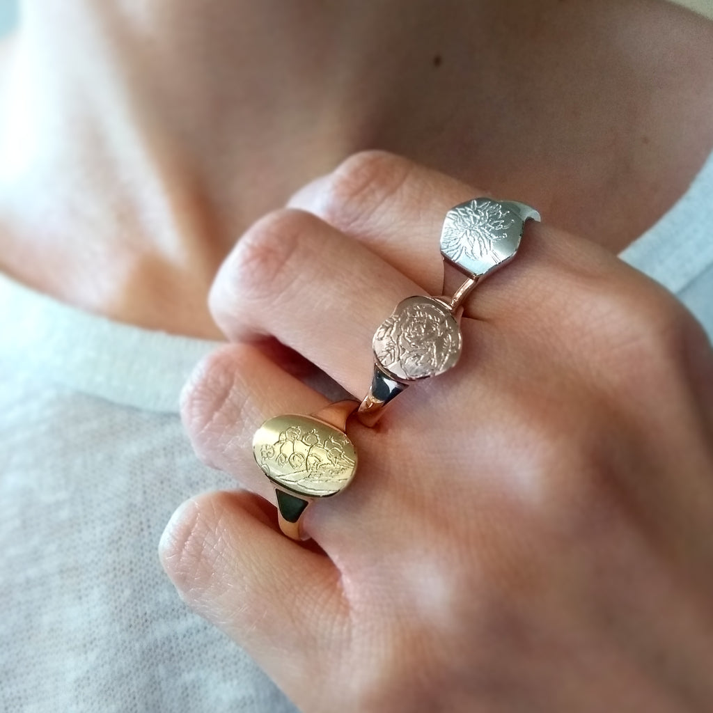Birth Month Flower Ring