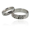 Laser Etched Custom Wedding Bands 14ct White Gold
