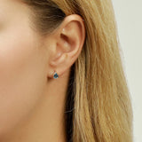 Topaz Drop Ear Studs