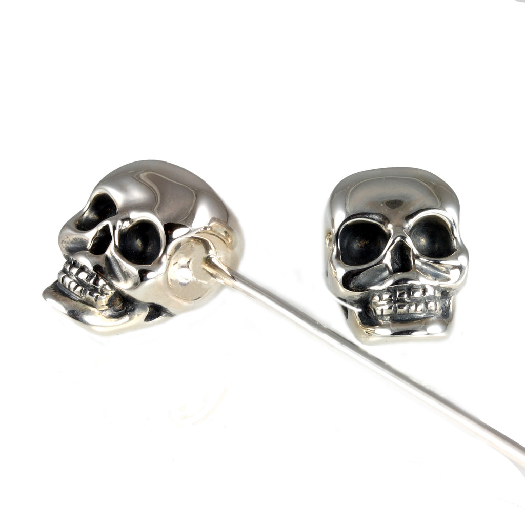 Sterling Silver Skull Collar Pin