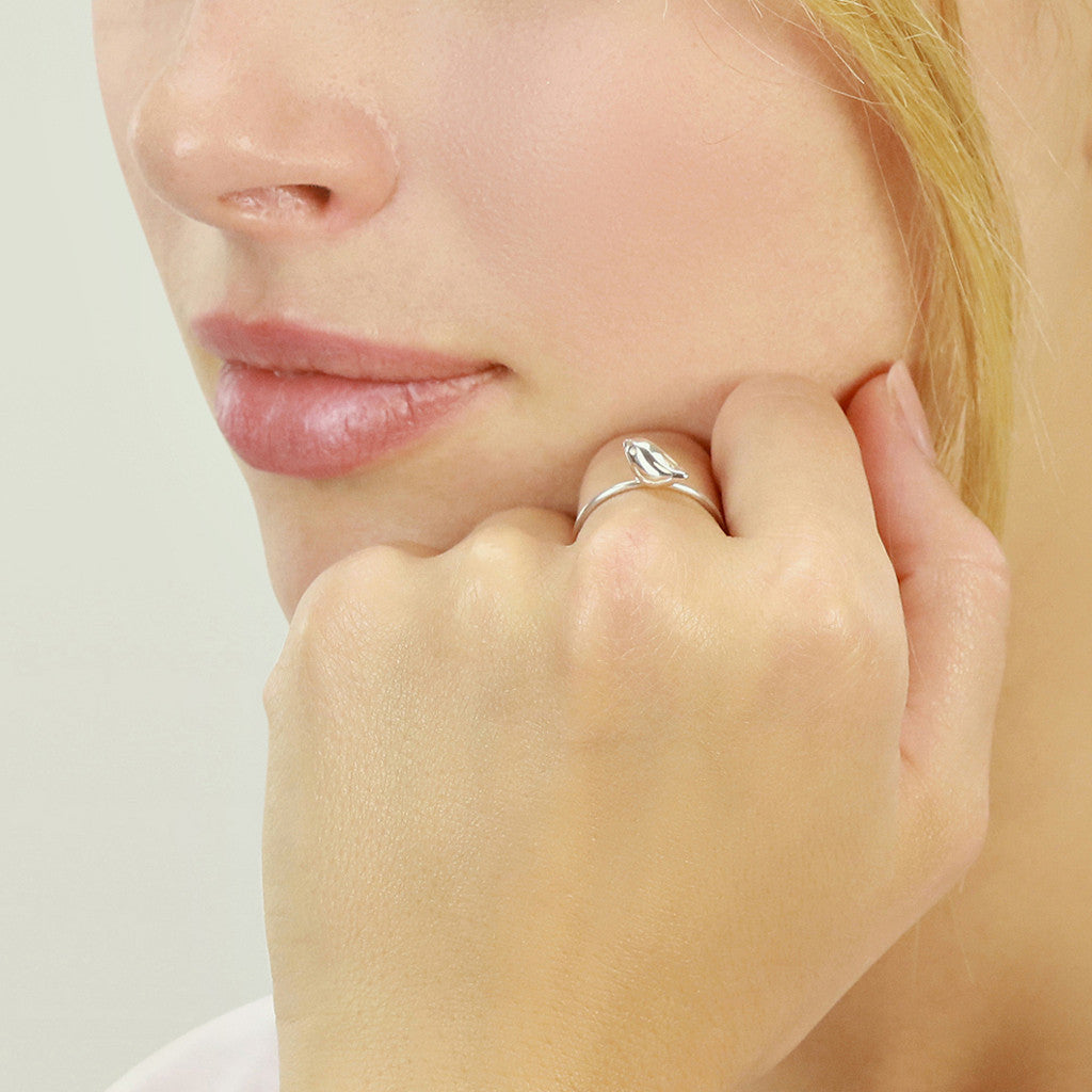 Golden Tiny Sparrow Ring size N