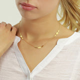 Triple Ellipse Necklace in silver or gold vermeil