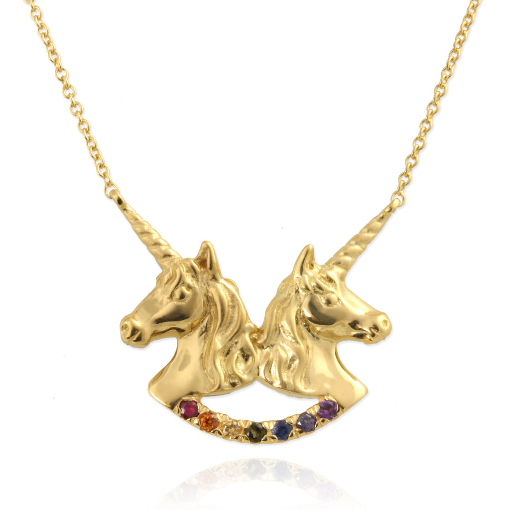 Twin Unicorn Necklace