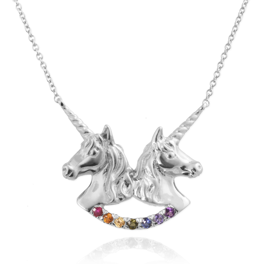 jewellery charmed pendant cnsuni unicorn cropped necklace lily personalised silver