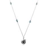 Cat Necklace with blue topaz - Jana Reinhardt Ltd - 1