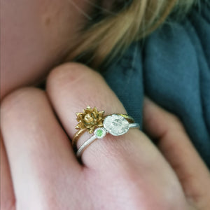 Water Lily Ring - July Birth Flower Ring