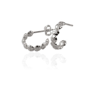 Flower Creole Hoop Earrings - Jana Reinhardt Ltd - 3