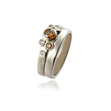 9ct White Gold and Brown and Champagne Diamonds Set