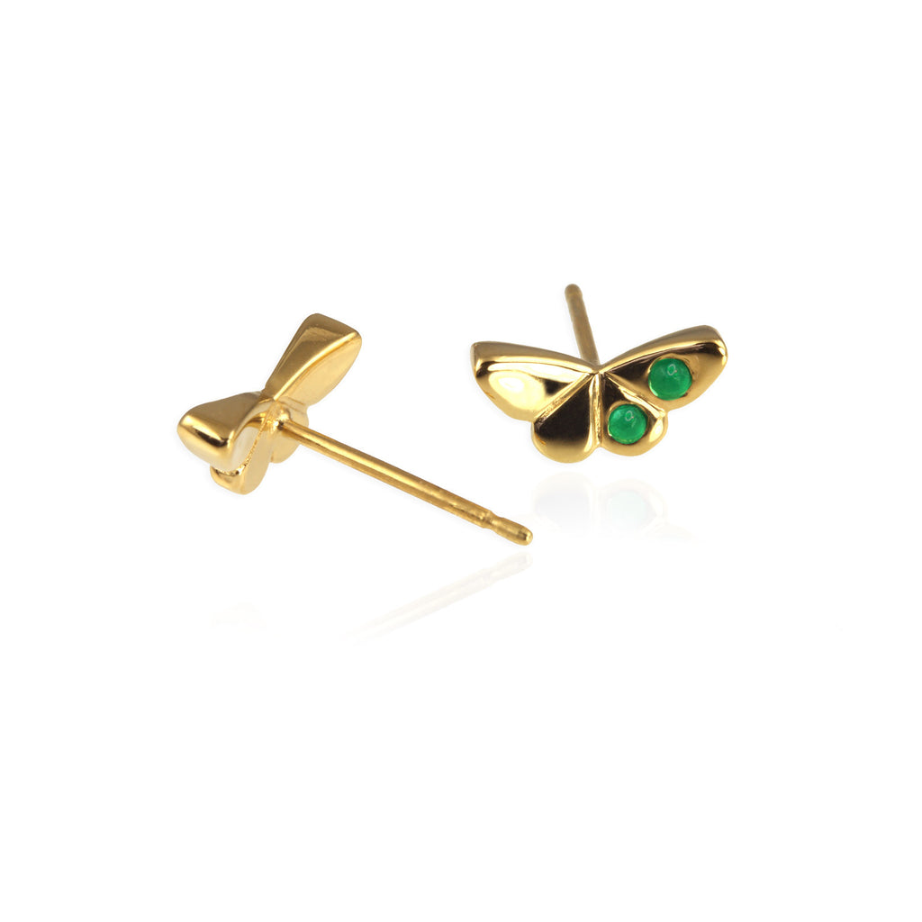Gold Butterfly Ear Studs - Jana Reinhardt Ltd - 1
