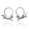 Cat Hoop Earrings