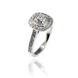 Cushion Cut Engagement Ring in Platinum