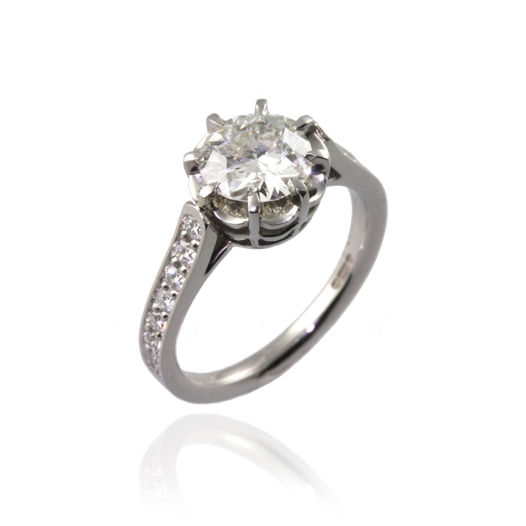Antique Style Diamond Engagement Ring