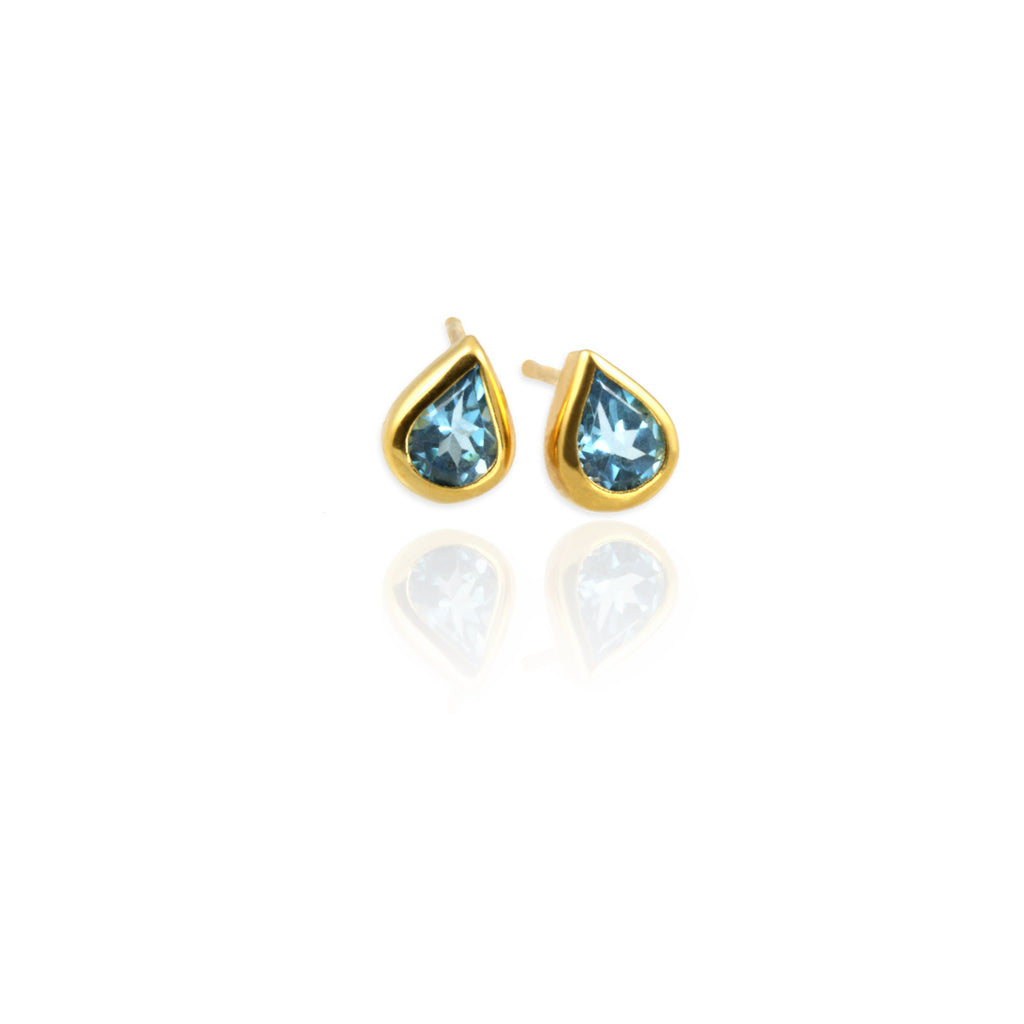 Topaz Drop Ear Studs - Jana Reinhardt Ltd - 3