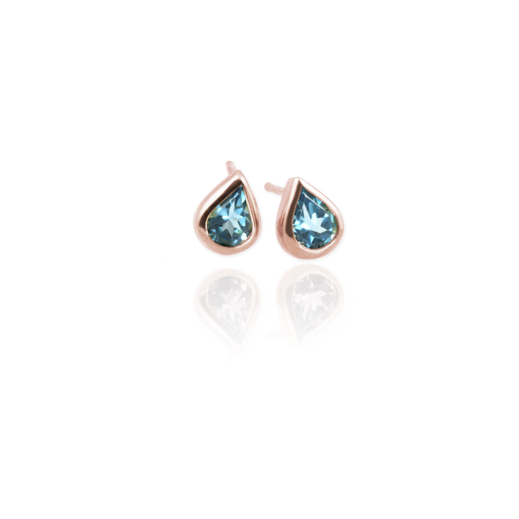 Topaz Drop Ear Studs - Jana Reinhardt Ltd - 4