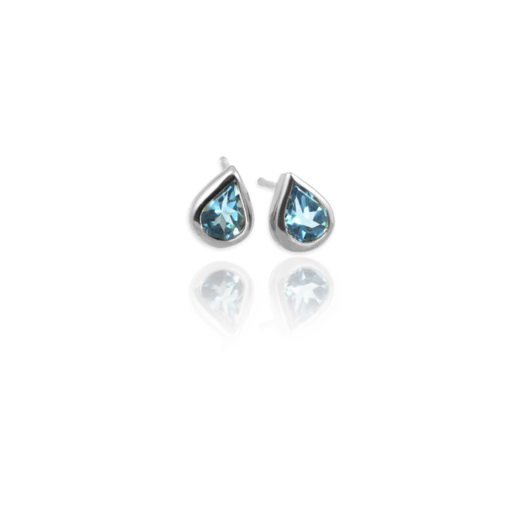 Topaz Drop Ear Studs - Jana Reinhardt Ltd - 1