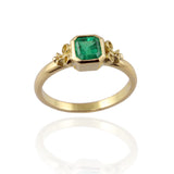 Yellow Gold & Emerald Engagement Ring