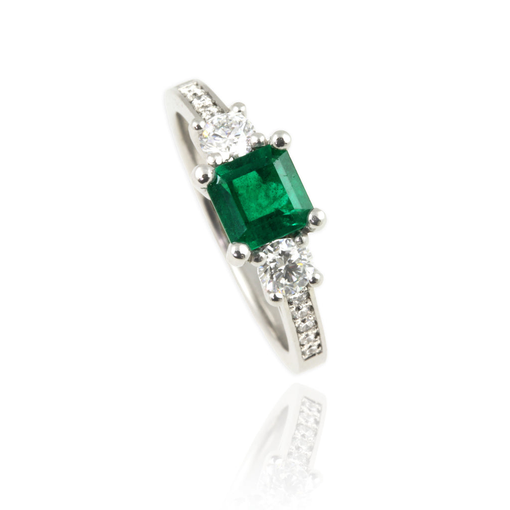 Platinum & Emerald Ring