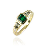 Bespoke Art Deco Emerald Ring