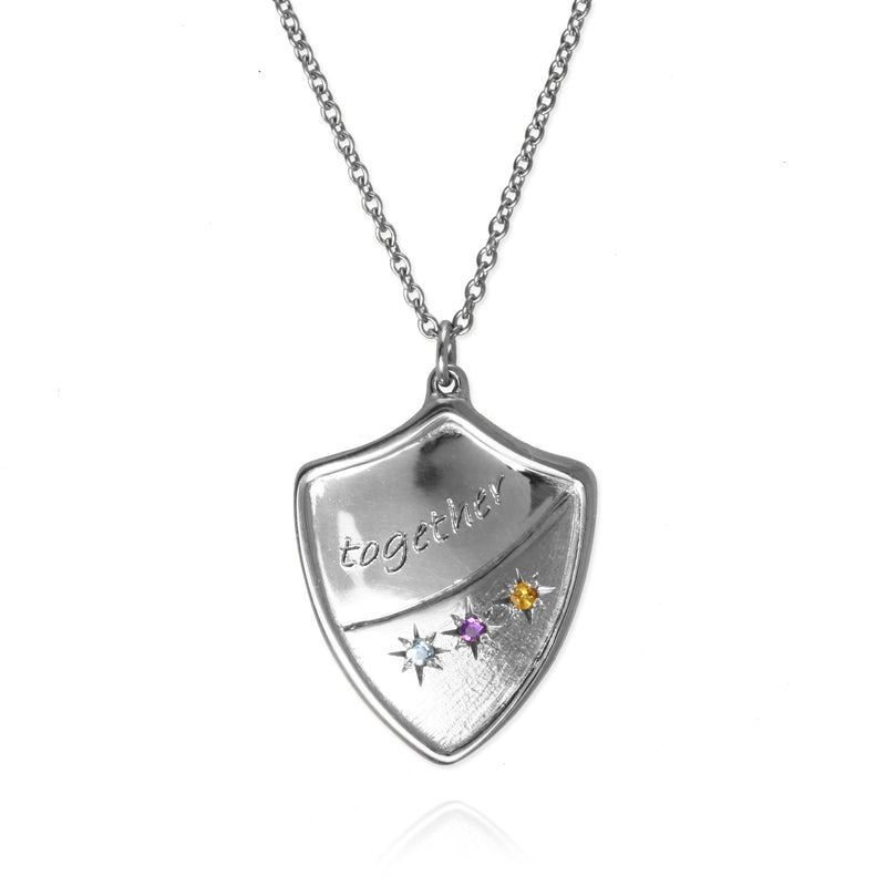 Family Crest Pendant with Birthstones