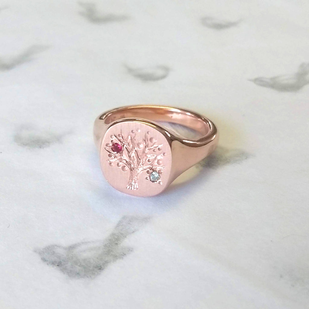 Family Tree Ring with Birthstones