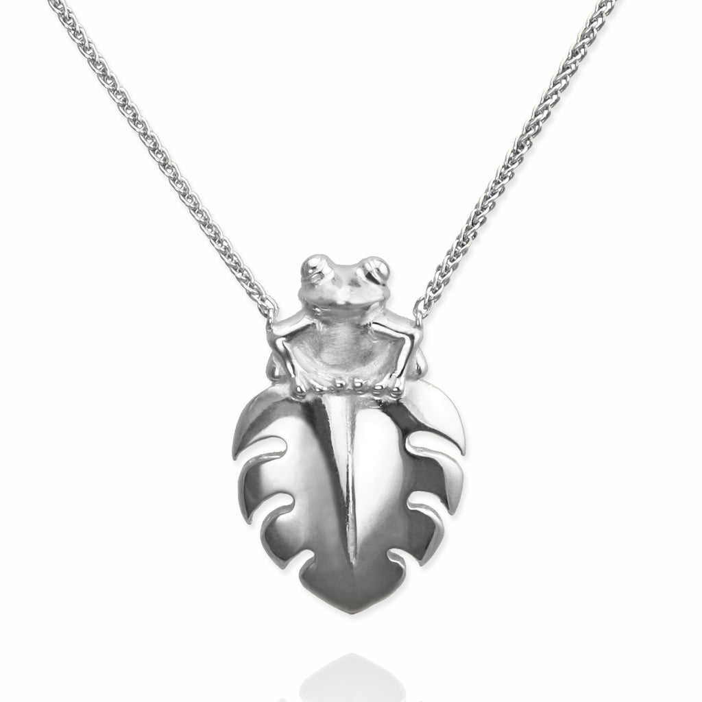 demarco la mary contessa jewelry frog pewter pendant nature necklace