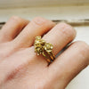 Poppy Ring - August Birth Flower Ring
