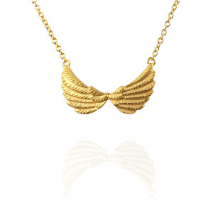Tiny Double Wing Necklace - Jana Reinhardt Ltd - 2