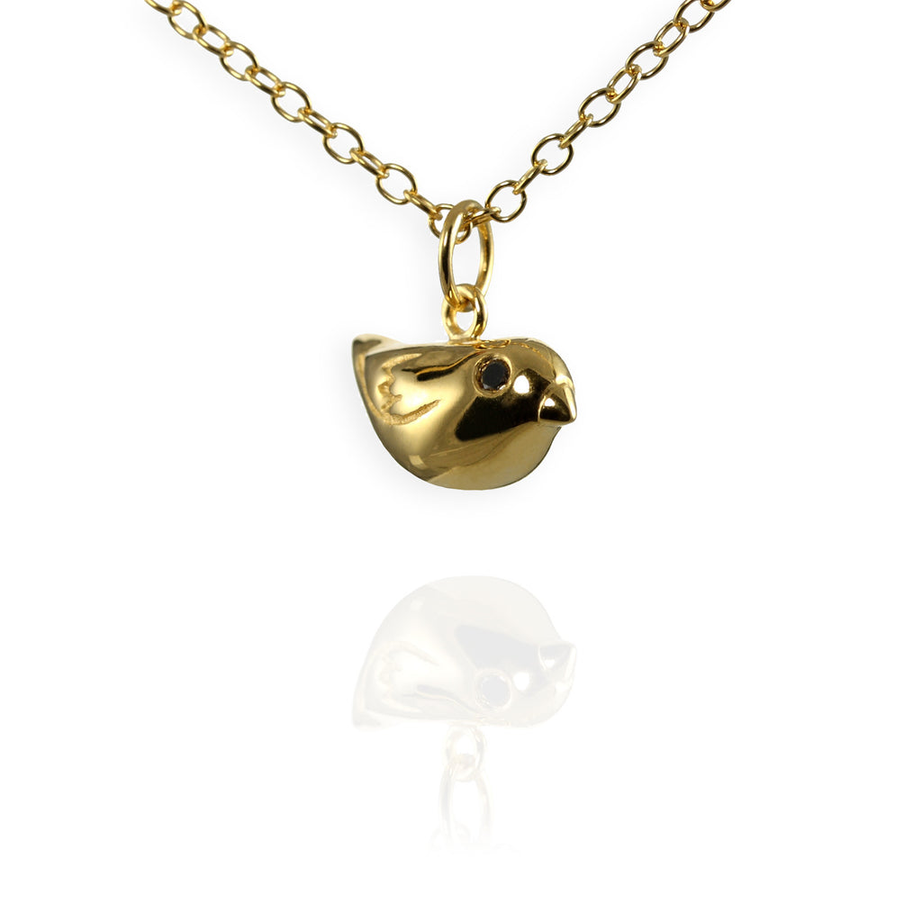 Gold Sparrow Charm Necklace - Jana Reinhardt Ltd - 1